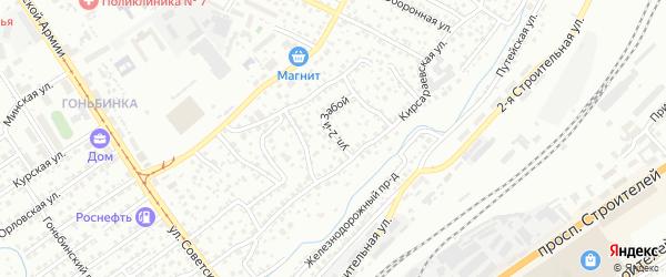 Улица 2 Забой на карте Барнаула с номерами домов