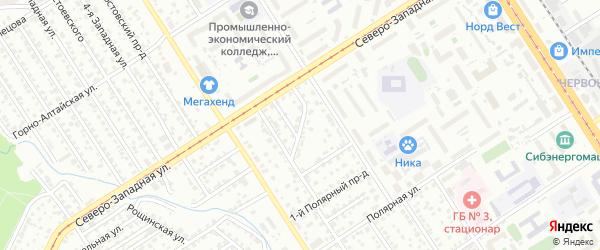 Станционный проезд на карте Барнаула с номерами домов