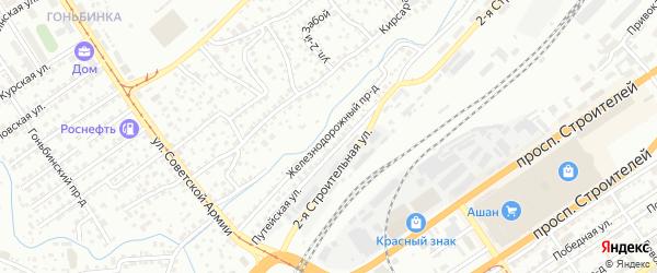 Железнодорожный проезд на карте Барнаула с номерами домов