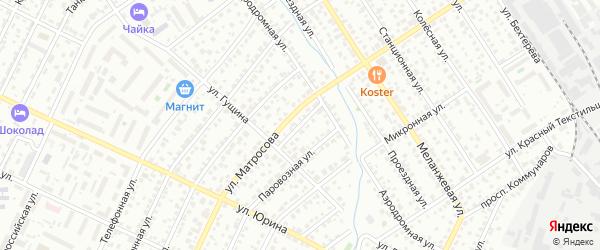 Обводной проезд на карте Барнаула с номерами домов