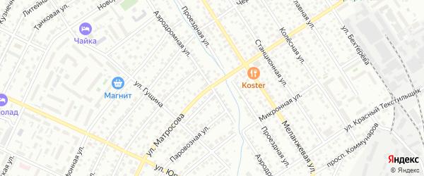 Аэродромная улица на карте Барнаула с номерами домов