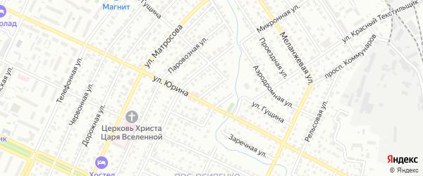 Веселая улица на карте Барнаула с номерами домов