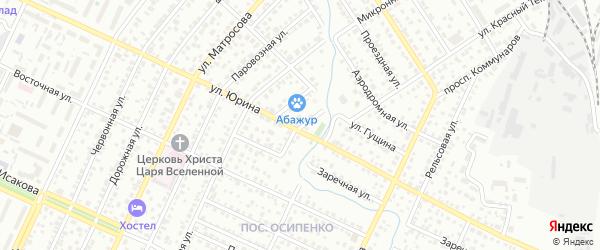 Переулок Киры Баева на карте Барнаула с номерами домов