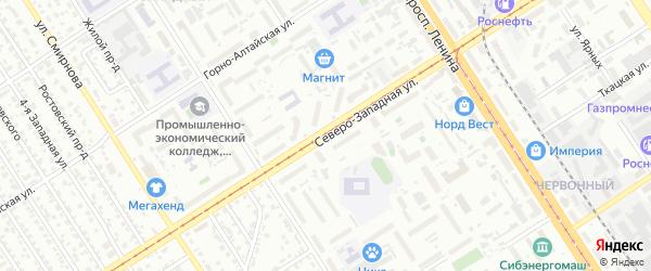 Северо-Западная улица на карте Барнаула с номерами домов