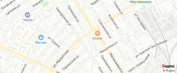 Проездная улица на карте Барнаула с номерами домов