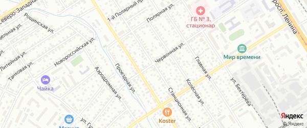 Станционная улица на карте Барнаула с номерами домов