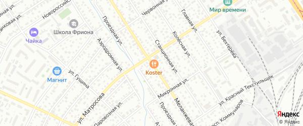 Меланжевая улица на карте Барнаула с номерами домов