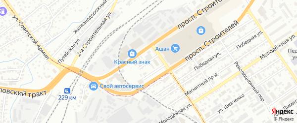 Транслесовский переулок на карте Барнаула с номерами домов