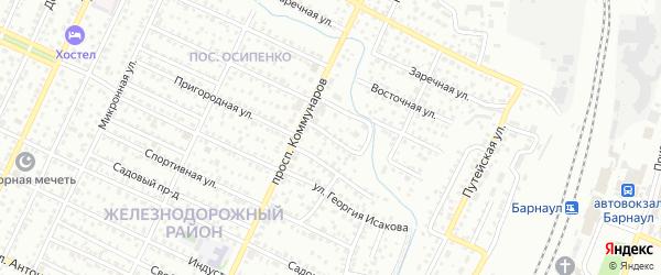 Овражная улица на карте Барнаула с номерами домов