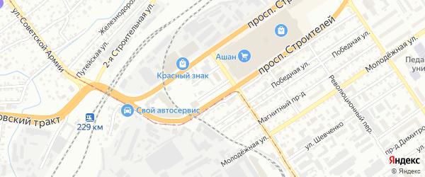 Стахановская улица на карте Барнаула с номерами домов