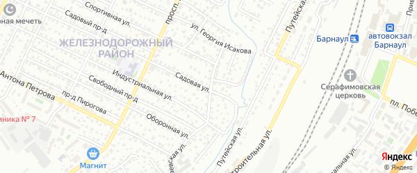Садовая улица на карте садового некоммерческого товарищества N 6 с номерами домов