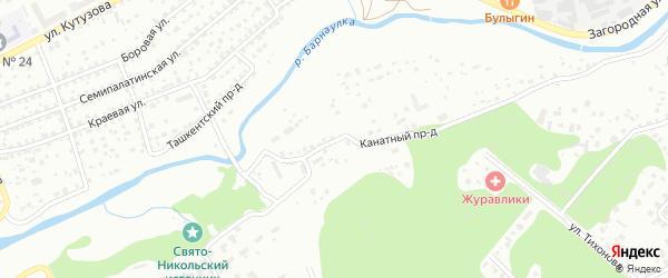 Канатный проезд на карте Барнаула с номерами домов