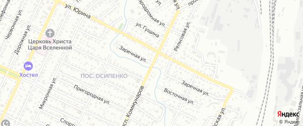 Заречная улица на карте Барнаула с номерами домов