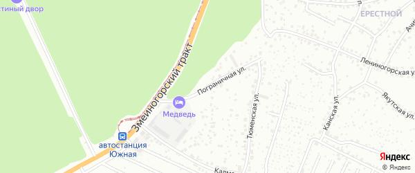 Пограничная улица на карте Барнаула с номерами домов