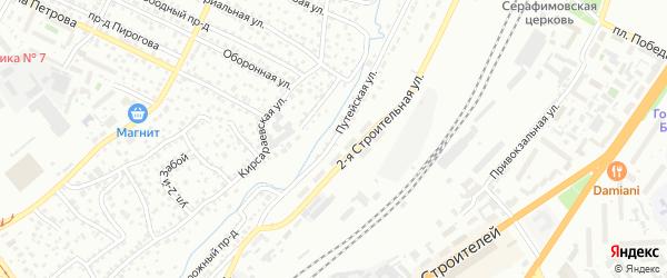 Путейская улица на карте Барнаула с номерами домов