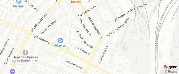 Улица Красный Текстильщик на карте Барнаула с номерами домов
