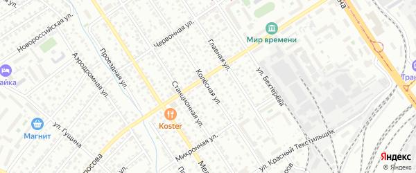 Колесная улица на карте Барнаула с номерами домов