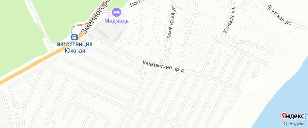 Калманский проезд на карте Барнаула с номерами домов