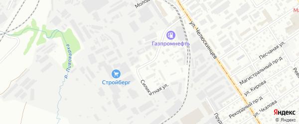 Силикатная улица на карте Барнаула с номерами домов