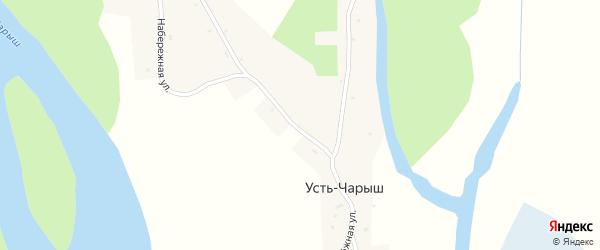 Молодежная улица на карте села Усть-Чарыша с номерами домов