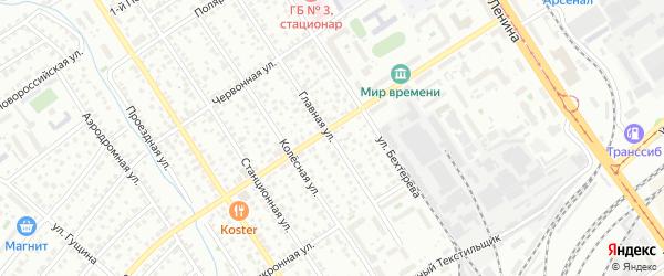 Главная улица на карте Барнаула с номерами домов