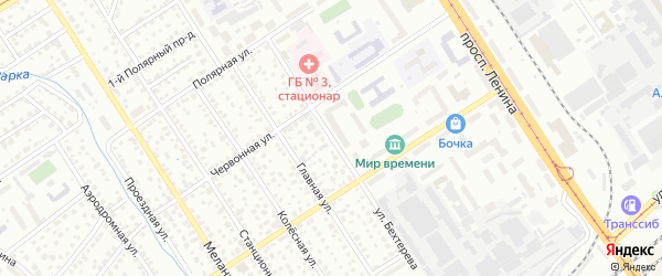 Улица Бехтерева на карте Барнаула с номерами домов