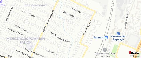 Стрелковая улица на карте Барнаула с номерами домов