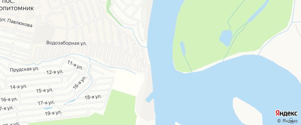 Карта садового некоммерческого товарищества Цветы Алтая города Барнаула в Алтайском крае с улицами и номерами домов