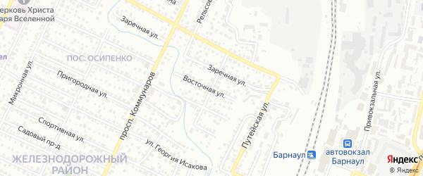 Футбольная улица на карте Барнаула с номерами домов