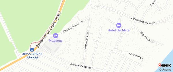 Тюменская улица на карте Барнаула с номерами домов