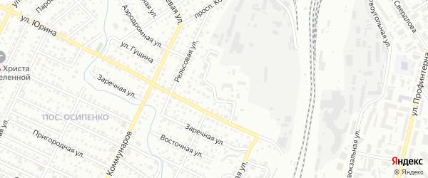 Футбольный проезд на карте Барнаула с номерами домов