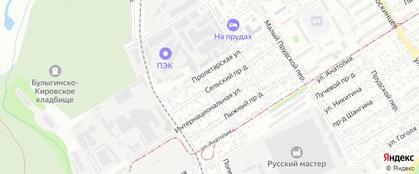 Зайчанский переулок на карте Барнаула с номерами домов