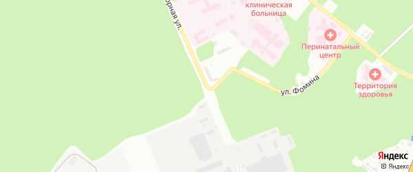 Нагорная 6-я улица на карте Барнаула с номерами домов