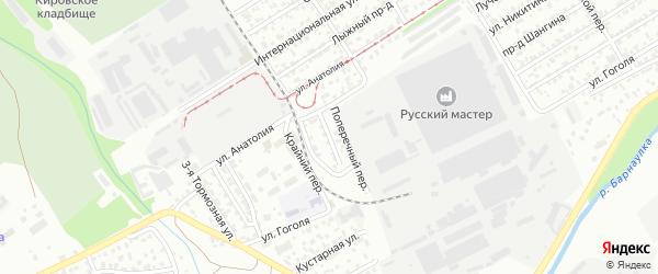 Ипподромный проезд на карте Барнаула с номерами домов