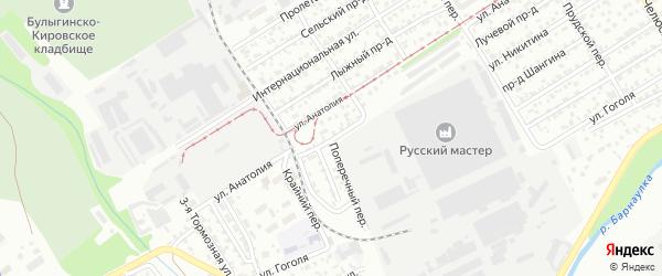 Ипподромная улица на карте Барнаула с номерами домов