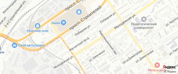 Магнитный проезд на карте Барнаула с номерами домов