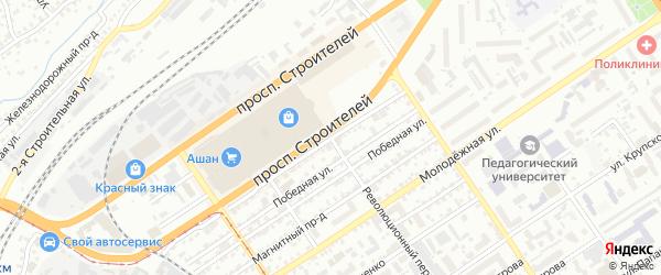 Полюсный проезд на карте Барнаула с номерами домов