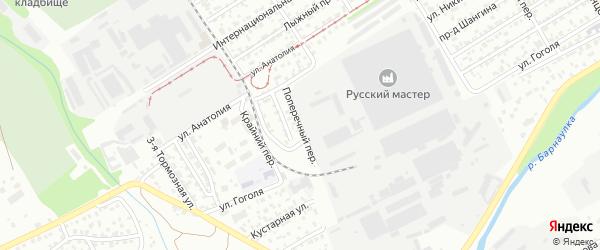 Поперечный переулок на карте Барнаула с номерами домов