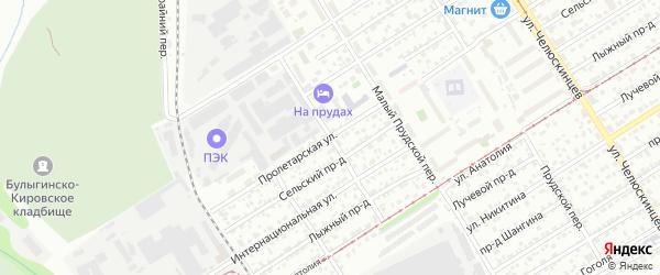 Колхозный переулок на карте Барнаула с номерами домов
