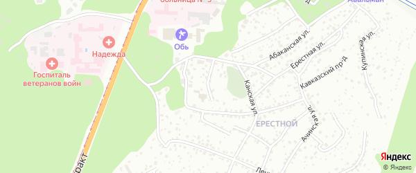 Яминский проезд на карте Барнаула с номерами домов