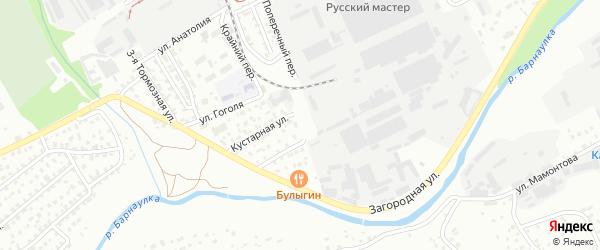 Веревочный переулок на карте Барнаула с номерами домов