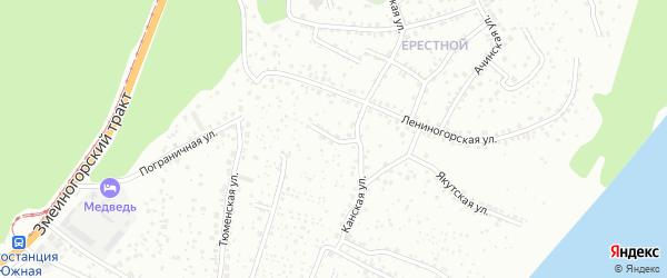 Малый проезд на карте Барнаула с номерами домов