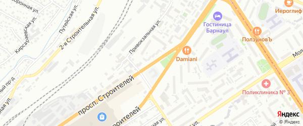 Проспект Строителей на карте Барнаула с номерами домов