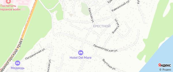 Канская улица на карте Барнаула с номерами домов