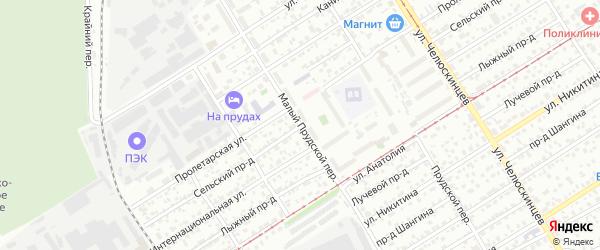 Сельский проезд на карте Барнаула с номерами домов