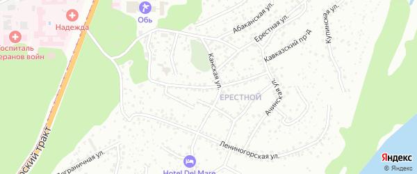 Саратовская улица на карте Барнаула с номерами домов