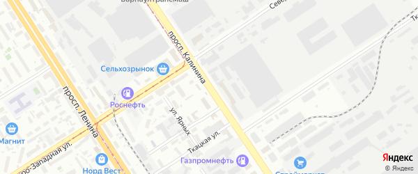Проспект Калинина на карте Барнаула с номерами домов