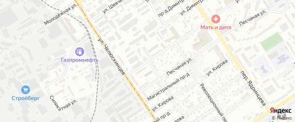 Сейфуллинский переулок на карте Барнаула с номерами домов