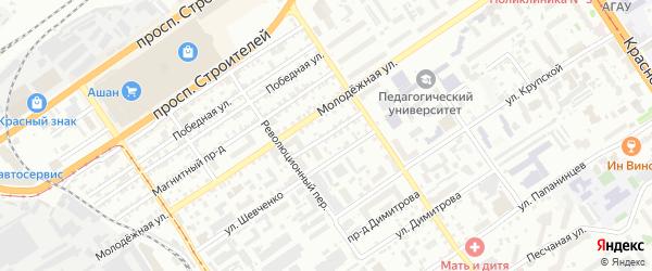 Кемеровский проезд на карте Барнаула с номерами домов