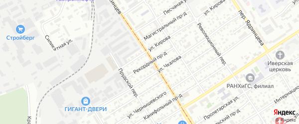 Рекордный проезд на карте Барнаула с номерами домов